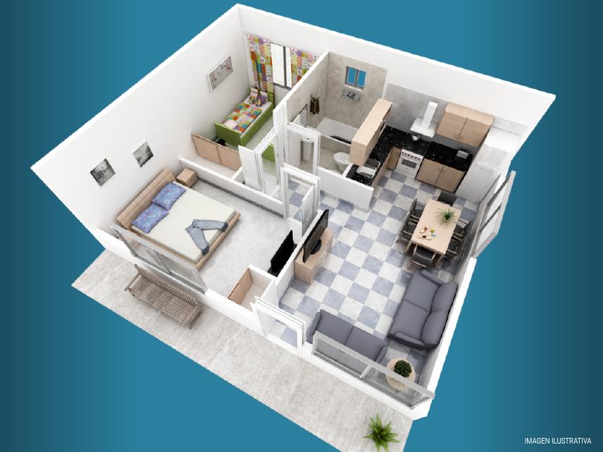 milenium plus 2 dormitorios plano