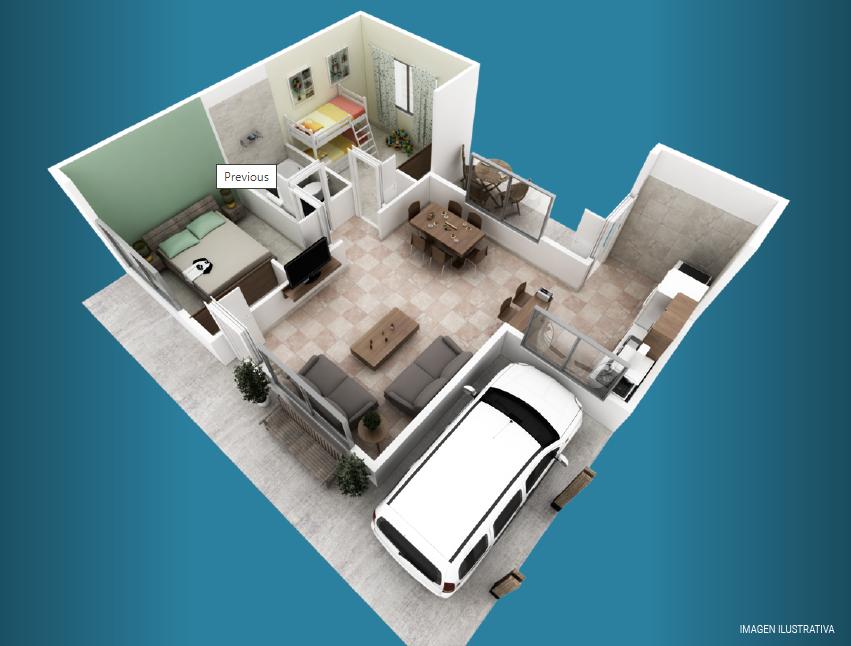 milenium premium 2 dormitorios galeria plano