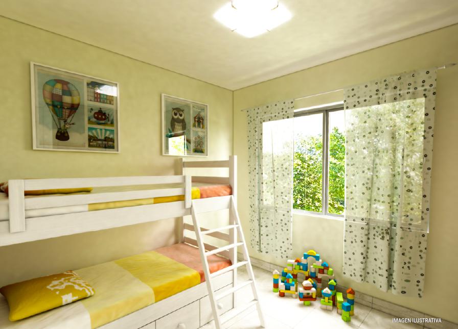 milenium 2 dormitorios con galeria habitacion