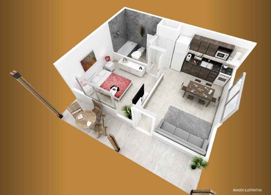 milenium premium 1 dormitorio plano