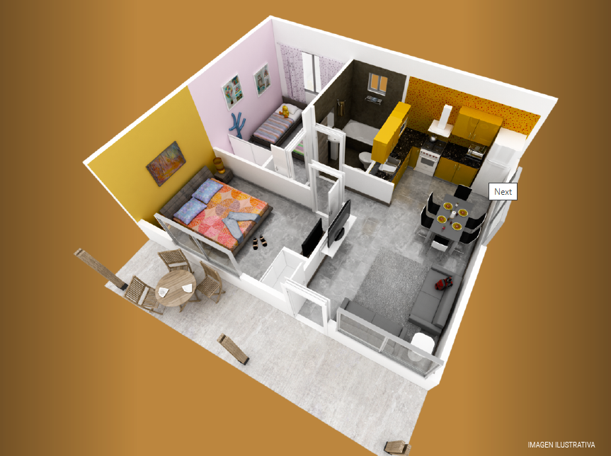 milenium premium 2 dormitorios plano