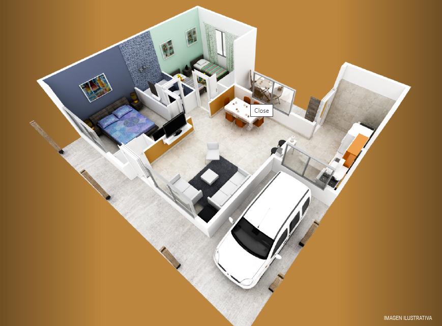 milenium premium 2 dormitorios con galeria plano