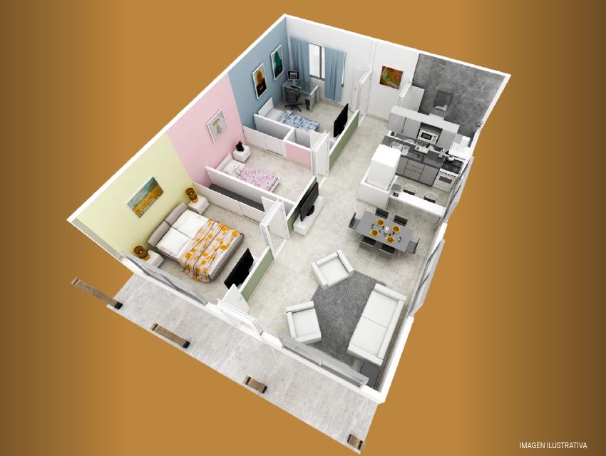 milenium premium 3 dormitorios plano