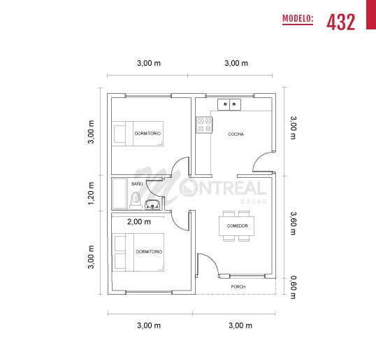 casa 432 estandar plano