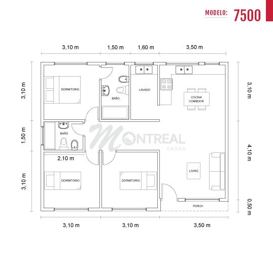 casa 75 plano